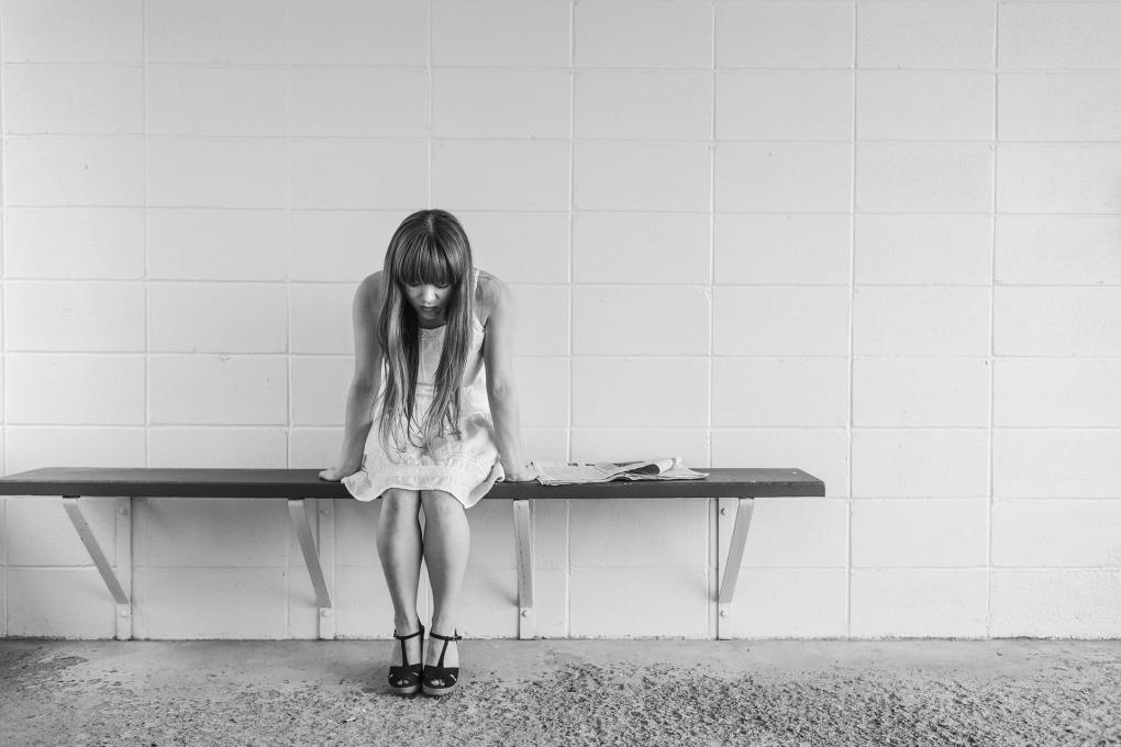 depressed worried girl